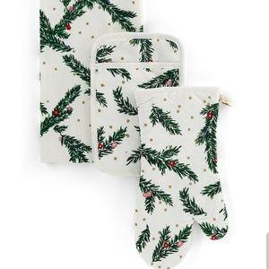 Kate Spade Holiday Pine Oven Mitt & Towel Set